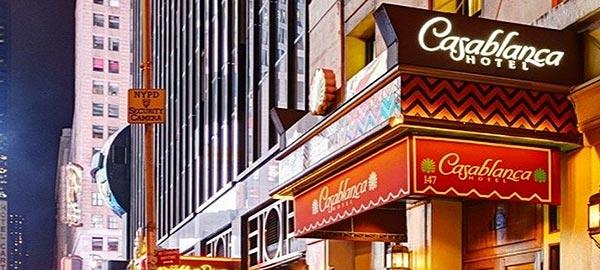 Casablanca Hotel New York City Official Site Hotel At Times Square