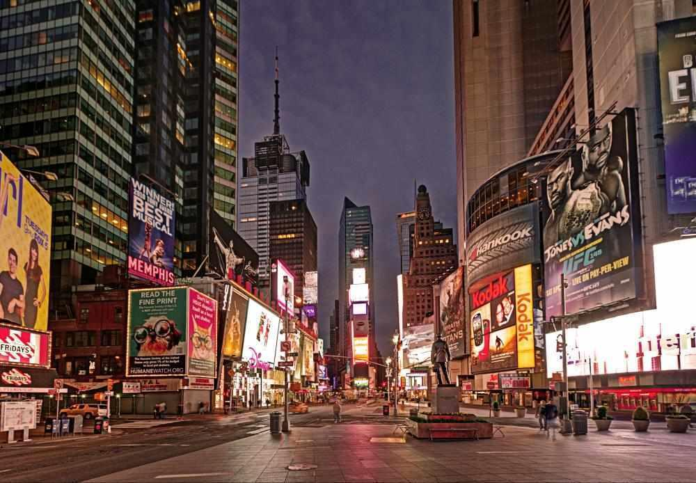 Times Square is steps from Casablanca Hotel by Library Hotel Collection