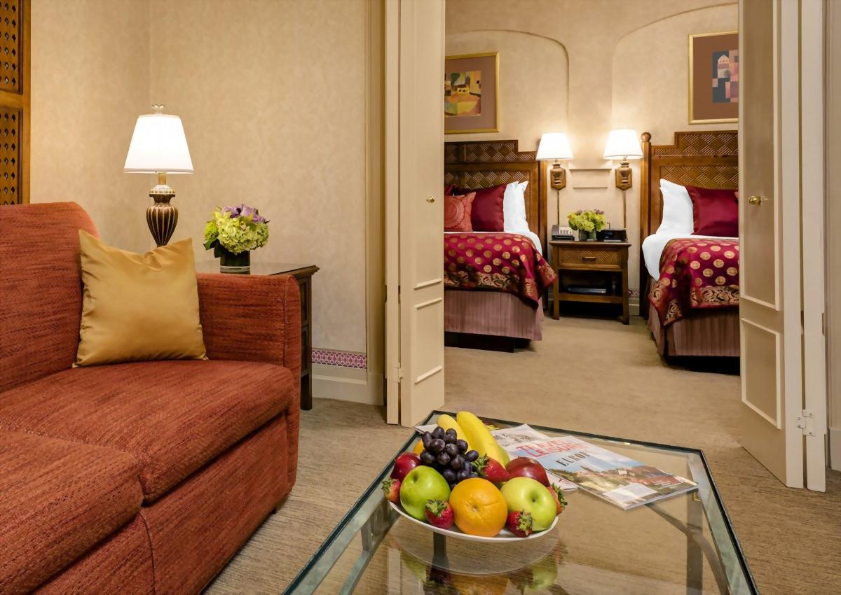 Mini Suite with 2 Double Beds and Sofa Bed.