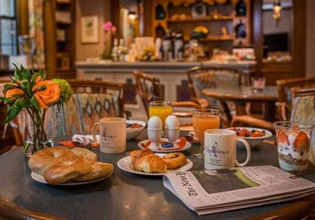 Guests of the Casablanca Hotel enjoy a complimentary deluxe continental breakfast served daily in Rick's Café Monday - Friday 7 am - 10:30 am; Saturday & Sunday 7 am - 11 am!
