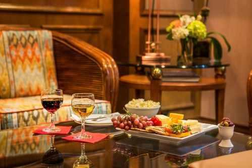 Start your evening with our 3-hour wine and cheese reception.