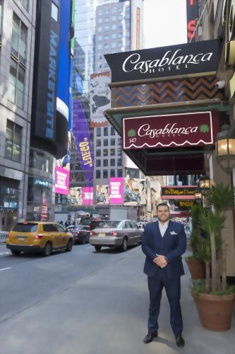Our General Manager, John, in the heart of Times Square.