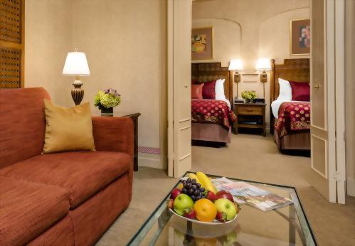 Casablanca Hotel Times Square's Mini Suite with 2 Double Beds and a Sofa Bed is perfect for families.